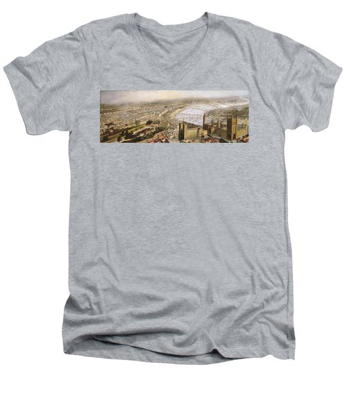 A Panoramic View Of London Men's V-Neck T-Shirt