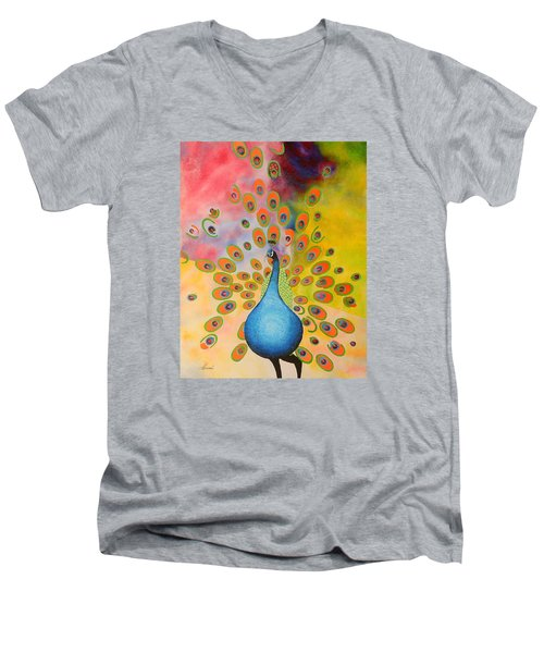 A Peculiar Peacock Men's V-Neck T-Shirt