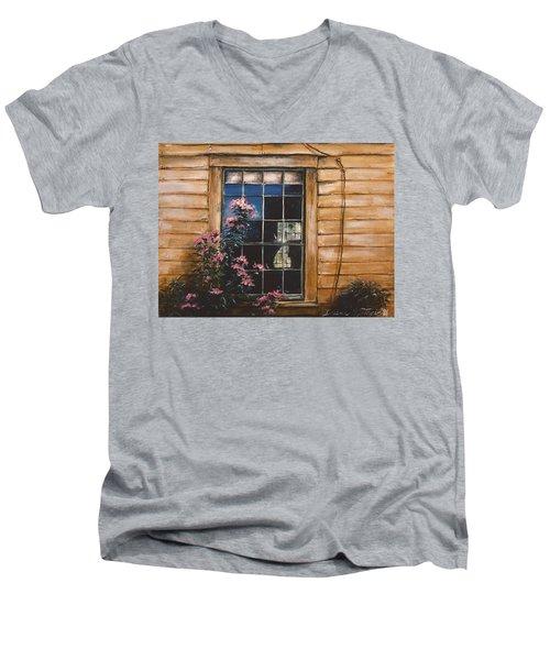 A Peek Through The Window Men's V-Neck T-Shirt