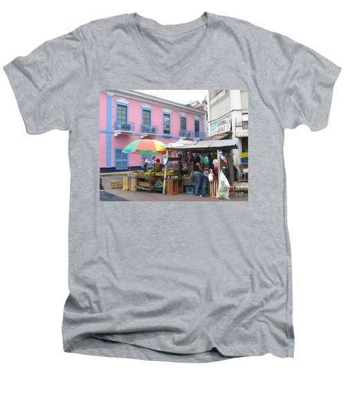 A Pop Of Tropical Color Men's V-Neck T-Shirt