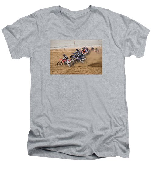 A Racing Start Men's V-Neck T-Shirt