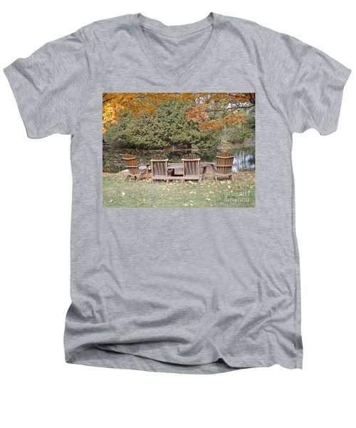 Relax For A Moment  Men's V-Neck T-Shirt