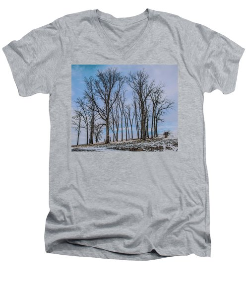 Men's V-Neck T-Shirt featuring the photograph A Resting Place by Ray Congrove