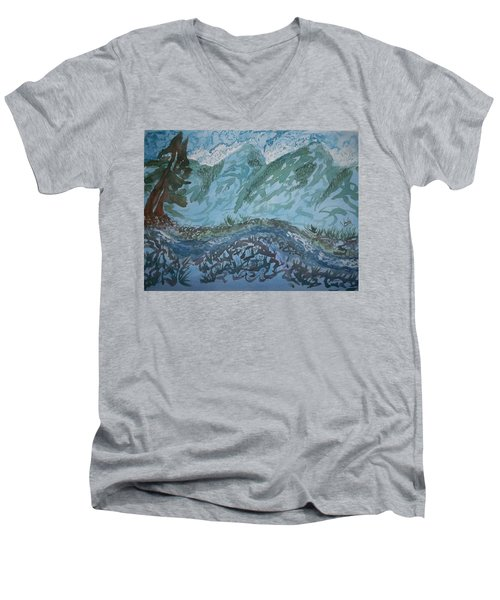 A River Runs Through It Men's V-Neck T-Shirt