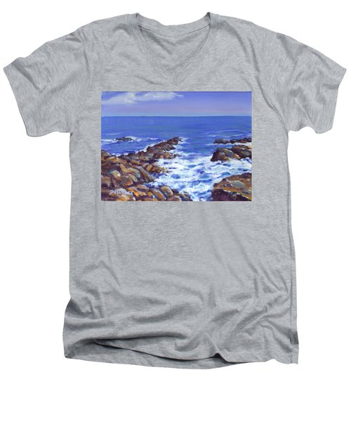 A Rocky Coast Men's V-Neck T-Shirt