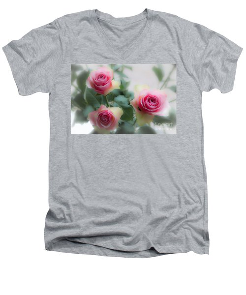 A Rose And A Rose And A Rose Men's V-Neck T-Shirt