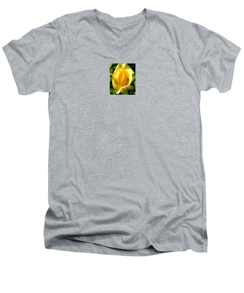 A Rose For My Friend Men's V-Neck T-Shirt by Janice Westerberg