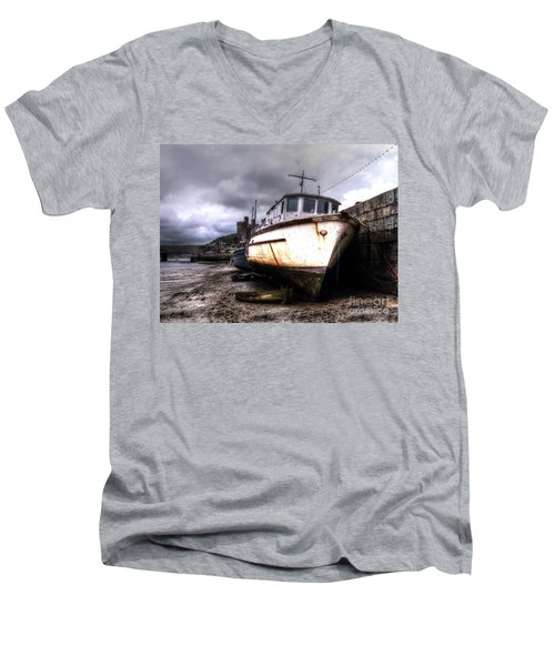 Men's V-Neck T-Shirt featuring the photograph A Rough Ride by Doc Braham