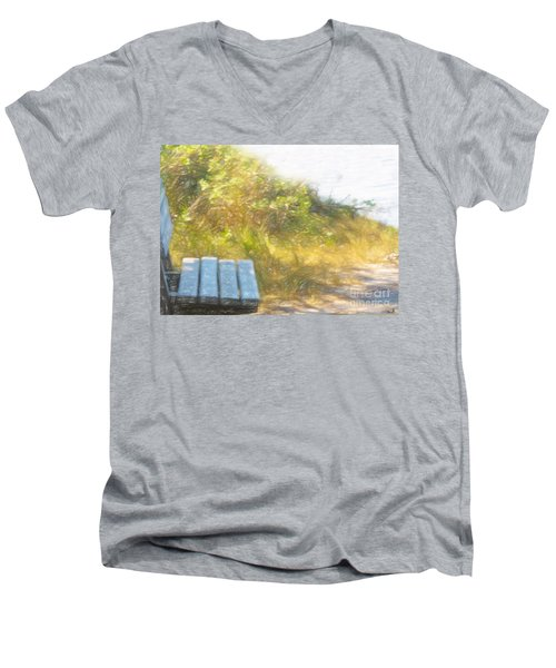 A Seat By The Ocean Men's V-Neck T-Shirt