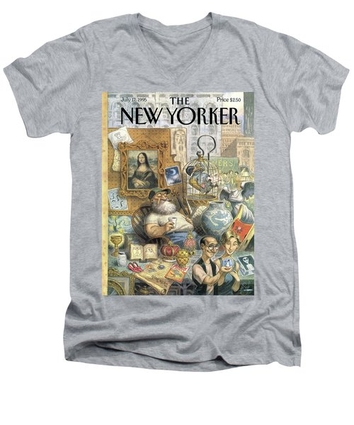A Shopkeeper Sells Odd Items Men's V-Neck T-Shirt