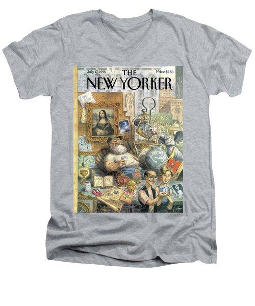A Shopkeeper Sells Odd Items Men's V-Neck T-Shirt