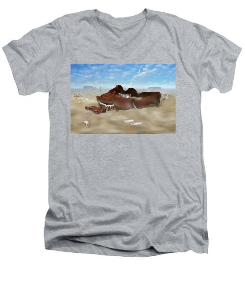 A Slow Death In Piano Valley Men's V-Neck T-Shirt