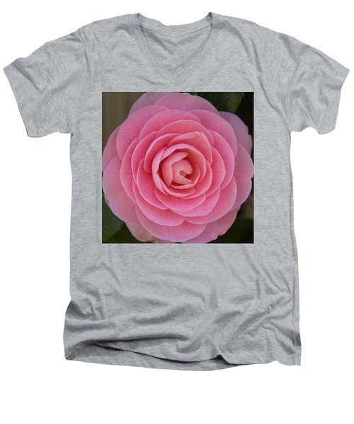 A Soft Blush Men's V-Neck T-Shirt