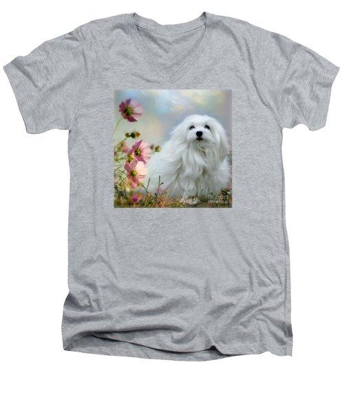 A Soft Summer Breeze Men's V-Neck T-Shirt by Morag Bates