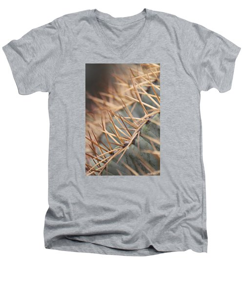 Men's V-Neck T-Shirt featuring the photograph A Spiny Situation by Amy Gallagher