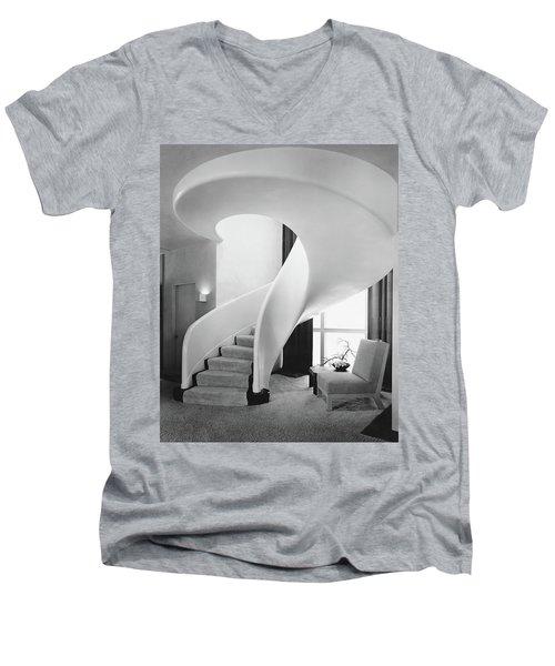 A Spiral Staircase Men's V-Neck T-Shirt