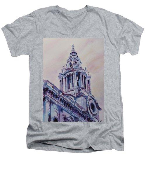 A Spire Of Saint Paul's Men's V-Neck T-Shirt