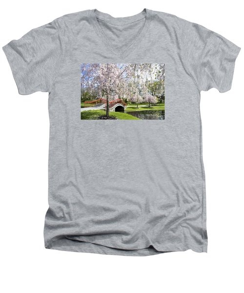 A Spring Walk Men's V-Neck T-Shirt by Paul W Faust -  Impressions of Light