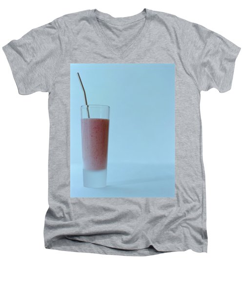 A Strawberry Flavored Drink Men's V-Neck T-Shirt