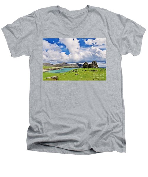 A Sunny Day In The Hebrides Men's V-Neck T-Shirt by Juergen Klust
