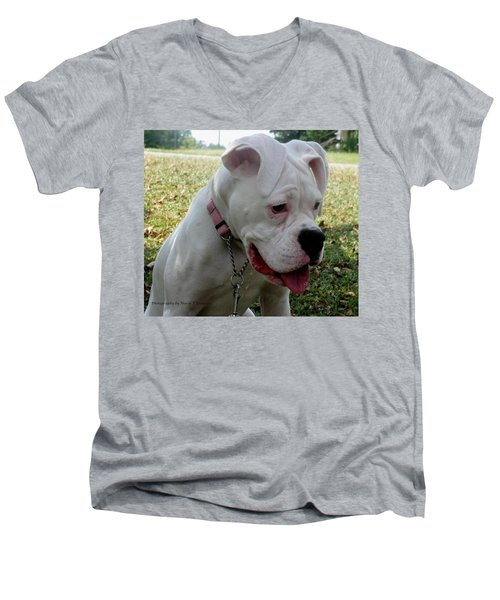 Men's V-Neck T-Shirt featuring the photograph A Tear Shed by Maria Urso