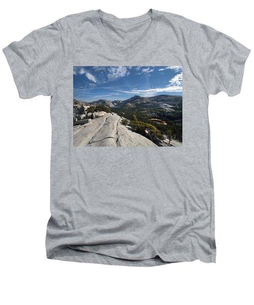 A Tenaya View Men's V-Neck T-Shirt