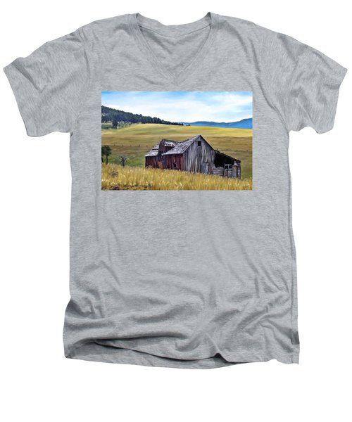 A Time In Montana Men's V-Neck T-Shirt