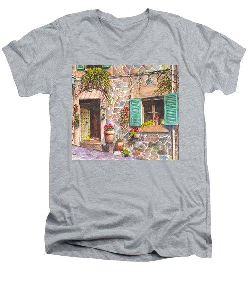 A Townhouse In Majorca Spain Men's V-Neck T-Shirt