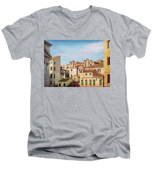 Men's V-Neck T-Shirt featuring the photograph A Venetian View by Brooke T Ryan