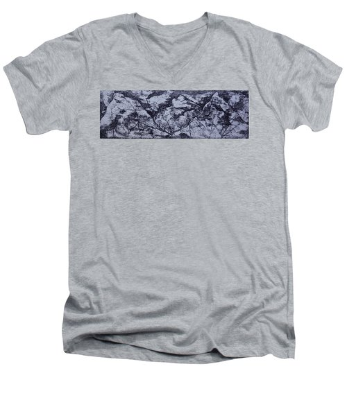 A View Men's V-Neck T-Shirt by Erika Chamberlin