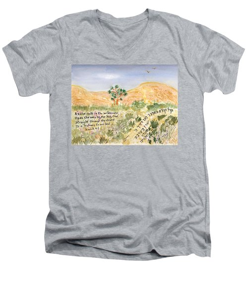 A Voice Calls Men's V-Neck T-Shirt