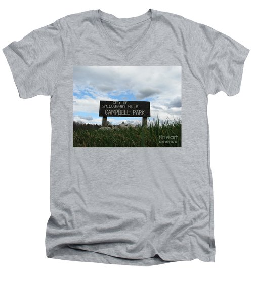 Men's V-Neck T-Shirt featuring the photograph A Walk In The Park  by Michael Krek
