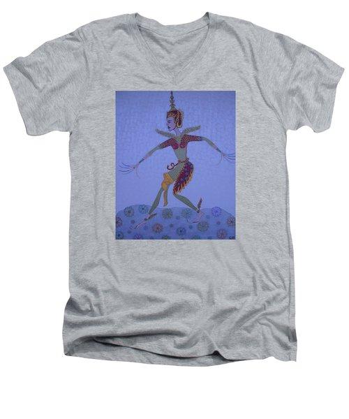 A Wild Dance Of A Nymph Men's V-Neck T-Shirt