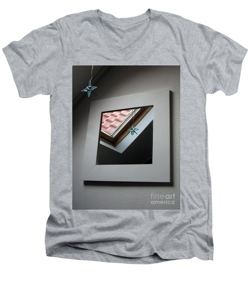 Men's V-Neck T-Shirt featuring the photograph A Window To Parallel World by Ausra Huntington nee Paulauskaite