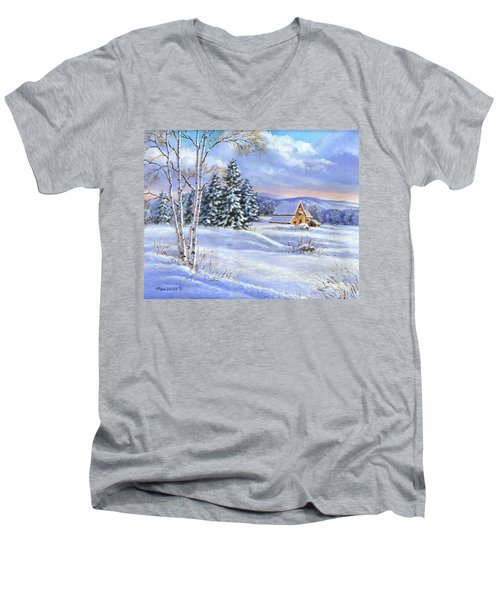 A Winter Afternoon Men's V-Neck T-Shirt