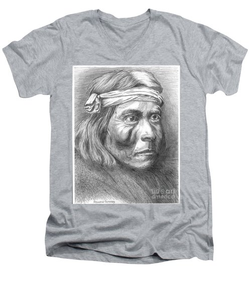 Shadow Catcher, A Zuni Governor Men's V-Neck T-Shirt
