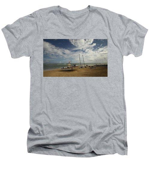 Abandoned Beach Men's V-Neck T-Shirt