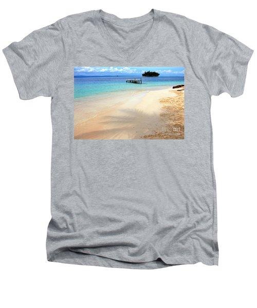 Abandoned Men's V-Neck T-Shirt by Bob Hislop