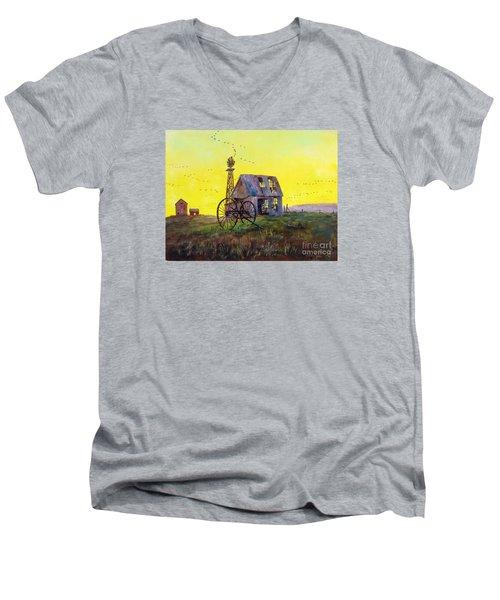 Abandoned  Farm Men's V-Neck T-Shirt by Lee Piper
