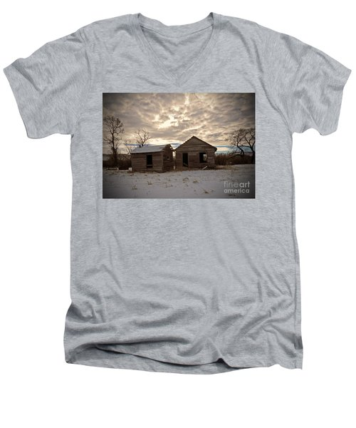 Abandoned History Men's V-Neck T-Shirt by Desiree Paquette