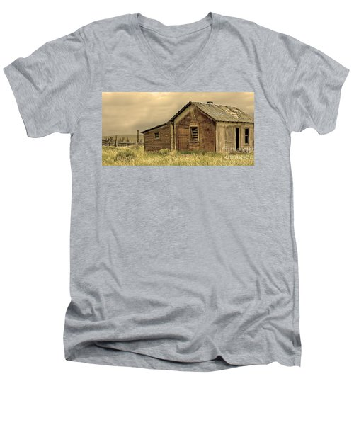 Men's V-Neck T-Shirt featuring the photograph Abandoned by Nick  Boren