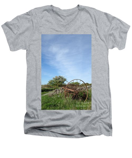 Abandoned Old Horse Rake  Men's V-Neck T-Shirt