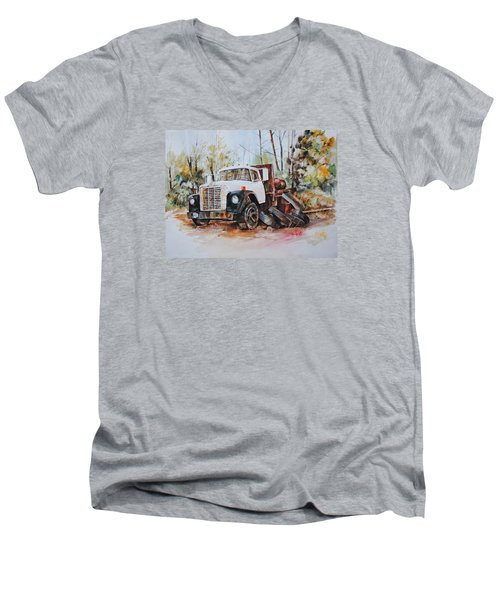 Abandoned Men's V-Neck T-Shirt by P Anthony Visco