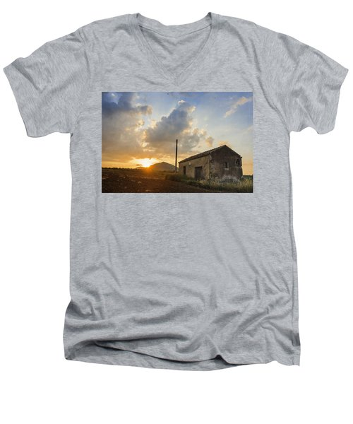 Abandoned Warehouse Men's V-Neck T-Shirt