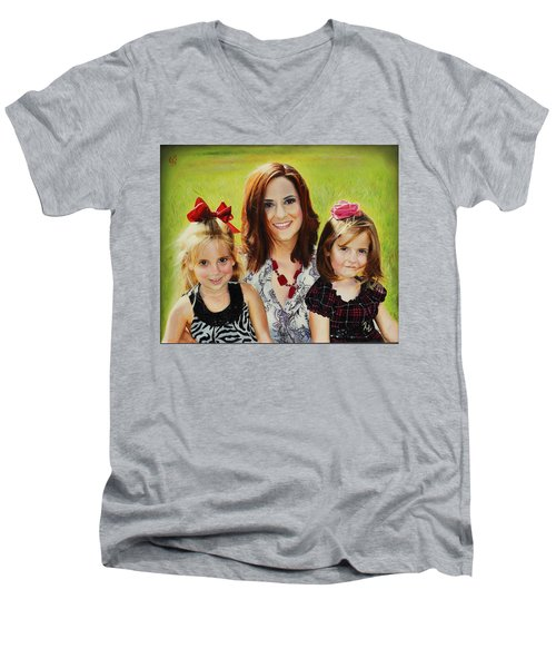 Abby And The Girls Men's V-Neck T-Shirt