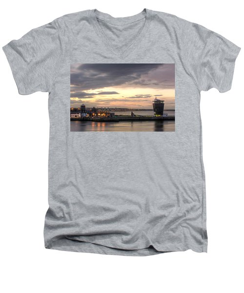 Aberdeen At Dusk Men's V-Neck T-Shirt