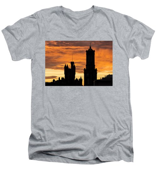 Aberdeen Silhouettes Men's V-Neck T-Shirt