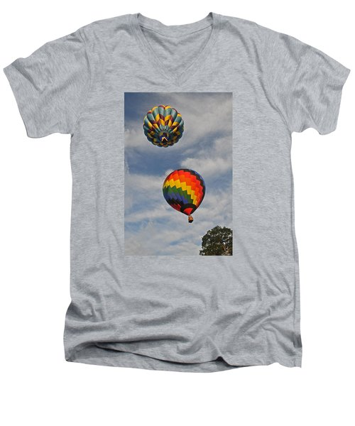 Above The Treetop Men's V-Neck T-Shirt by Mike Martin