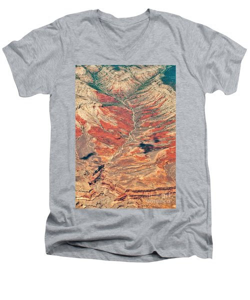 Men's V-Neck T-Shirt featuring the digital art Above Timber Line by Mae Wertz
