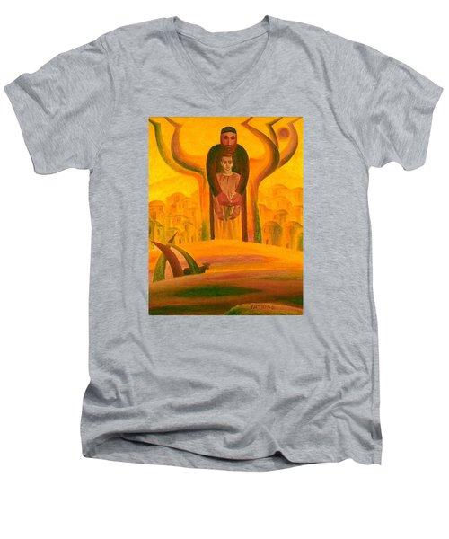 Abraham And Isaac Men's V-Neck T-Shirt